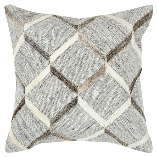 Square Throw Pillow in Natural/Black