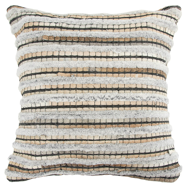 Square Throw Pillow in Beige