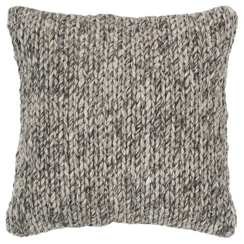 Square Throw Pillow in Natural/Grey