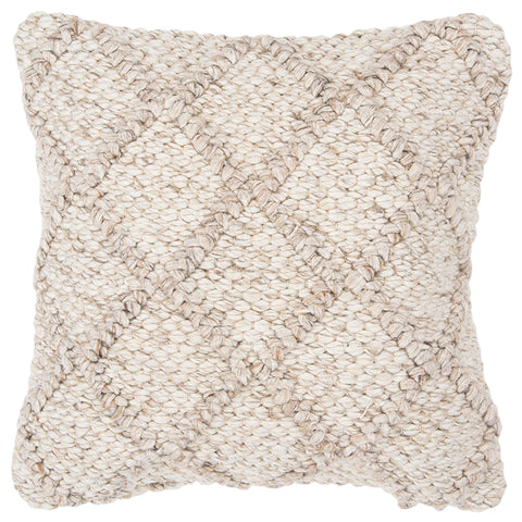 Square Throw Pillow in Natural/Beige