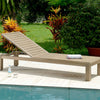 Wheel Lounger with Cushion, Rustic