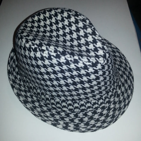 43e252a4e7f71 Houndstooth Pattern Fedora Hat