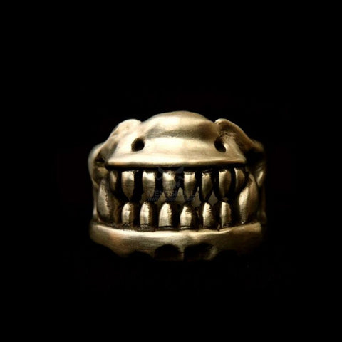 Brass Ring Skull Jewelry Brass Skull Ring HTJ50