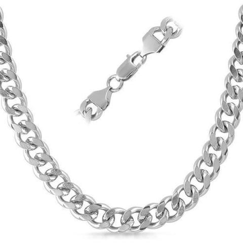 10mm Stainless Steel Silver Mens Heavy Miami Cuban Chain