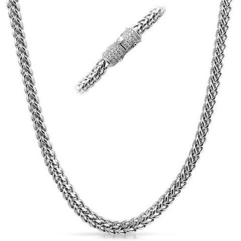 6mm Stainless Steel Heavy Luxury Edition Franco Chain Necklace