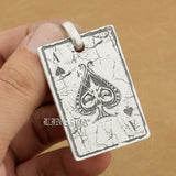 Deep Engraved High Detail Customize 925 Sterling Silver Spades A Pendant New Product - Bikers 4 Life Stuff - 6