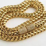 6mm 18K Gold IP Heavy Luxury Edition Franco Chain