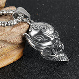 Gothic Skull Pendant Necklace 3mm 22'' - Bikers 4 Life Stuff - 2