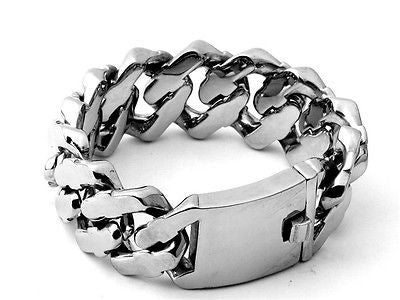 Curb Cuban 316 Stainless Steel Bracelet Chain 28mm