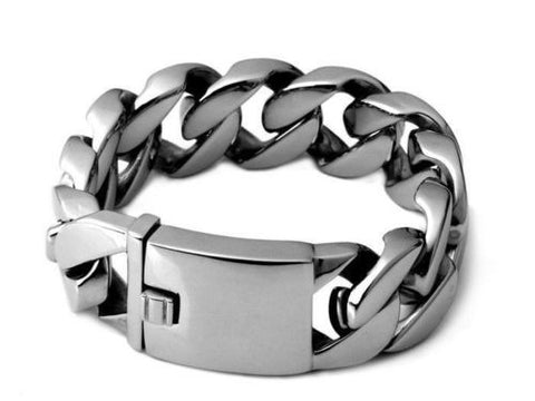 23mm Cuban Stainless Steel Bracelet