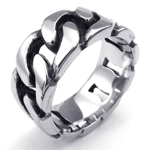 316L Stainless Steel Band Biker Ring - Bikers 4 Life Stuff - 1
