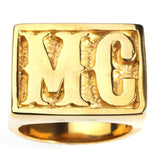 Gold MC 316L Stainless Steel Ring