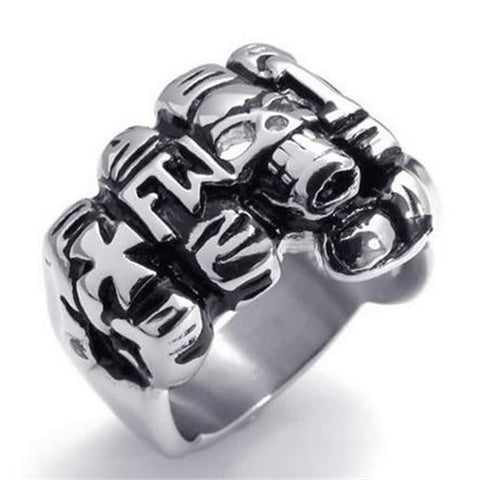 Stainless Steel FTW Skull Ring - Bikers 4 Life Stuff - 1