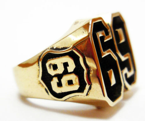 69 Harley Rocker Outlaw Brass Ring Size 8-12