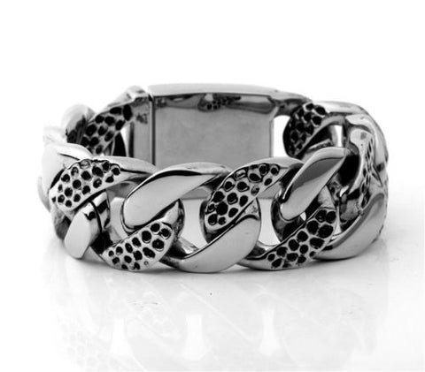 Gothic Curb Cuban Stainless Steel Bracelet