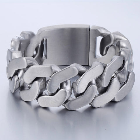 27mm Chain Curb Stainless Steel Bracelet