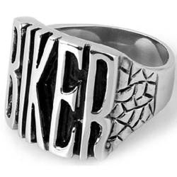 316L Stainless Steel BIKER Ring - Bikers 4 Life Stuff - 1