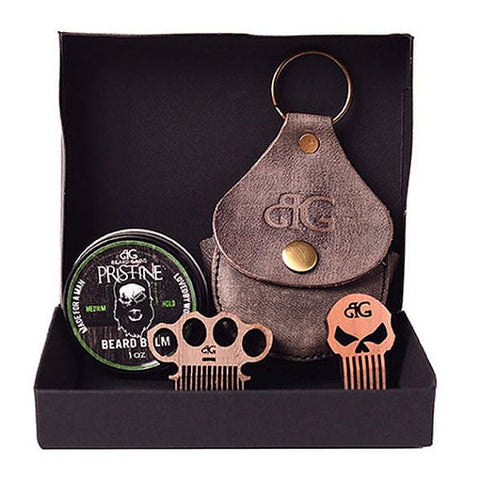Complete Beard Balm Kit W/ Custom Coin Pocket Comb