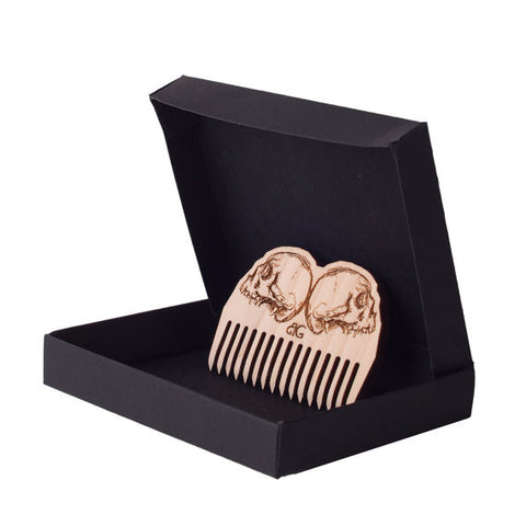 Mirror Skull Beard Comb And Gift Box