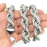 16mm Stainless Steel Silver Snake Necklace