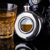 Circular translucent Flask Stainless Steel