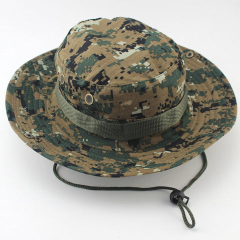 Military Camouflage Bucket Hat Camo Fisherman