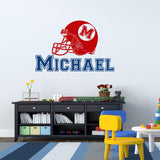 Custom-made Personalized Name Football Wall Decal