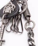 8mm 60CM Long Thick GunMetal Wallet Skull Sword Jeans Jean Chain