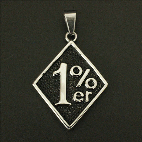 Golden Silver 1% Pendant 316L Stainless Steel