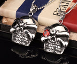 Huge Skull Pendant With Stone Eye STAINLESS Steel Pendant