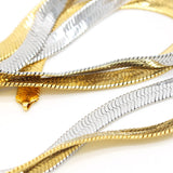 18K Gold/silver plated  Franco 76cm Long Chain Necklaces