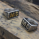 316L Stainless Steel Golden/Silver MC Ring - Bikers 4 Life Stuff - 2