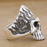 Huge Flame Fire Skull Biker Ring - Bikers 4 Life Stuff - 4