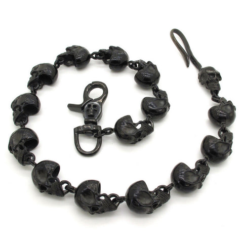 Gothic Demon Skull Black Skeleton Chain