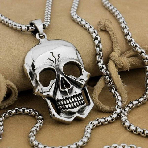 Stainless Steel Huge Skull Pendant