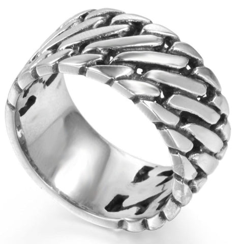 Stainless Steel Cuban Curb Ring