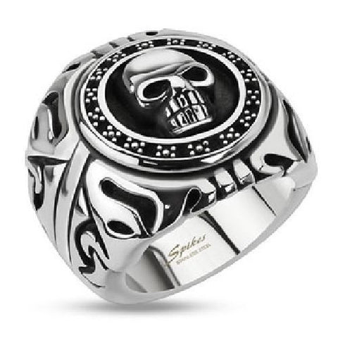 Stainless Steel Skull Ring Biker - Bikers 4 Life Stuff