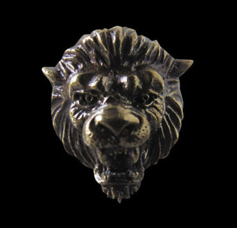 Bronze Lion King Panthera Leo Big Cat Ring Custom Size Handmade