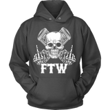 Bikers4LifeStuff Original- FTW Biker Skull Hoodie - Bikers 4 Life Stuff - 2