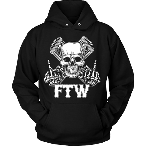 Bikers4LifeStuff Original- FTW Biker Skull Hoodie - Bikers 4 Life Stuff - 1