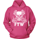 Bikers4LifeStuff Original- FTW Biker Skull Hoodie - Bikers 4 Life Stuff - 4
