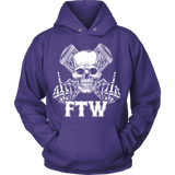 Bikers4LifeStuff Original- FTW Biker Skull Hoodie - Bikers 4 Life Stuff - 6