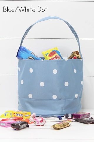 Blue/White Dot Halloween Totes