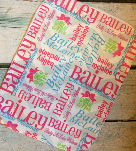 Personalized Baby Blankets - Bailey Collection - Glittering Boutique