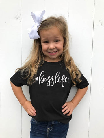 #Bosslife Toddler Tee - Glittering Boutique