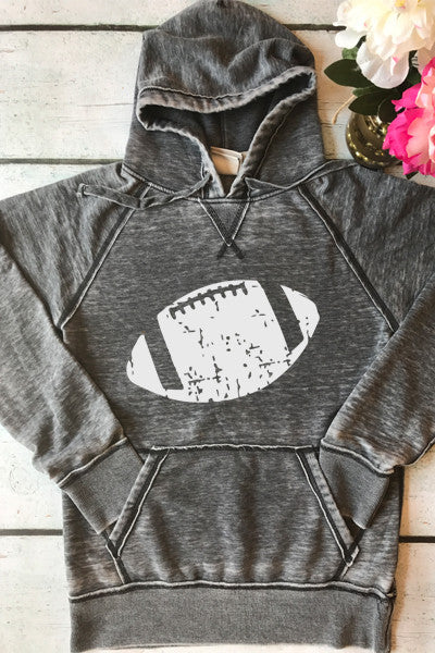 Distressed Football Vintage Fleece Pullover - Glittering Boutique