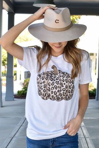 Cheetah Pumpkin Graphic Tee