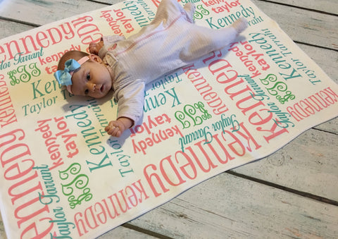 Personalized Baby Blankets - Classic Collection - Glittering Boutique