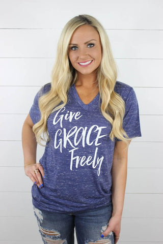 Give Grace Freely V Neck