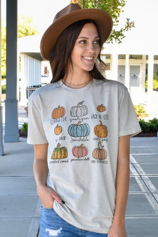 Pumpkin Names Graphic Tee